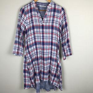 Plaid Easel Sz S 100% Cotton dress